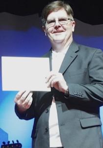Pastor Paul Hester receiving his Certificate