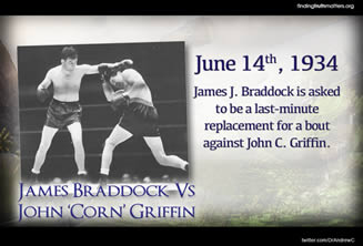 the heroism of james braddock during the great depression The son of alabama sharecroppers, joe louis, during his reign as heavyweight champion of the world from 1937 to 1949, stood as a shining symbol of mythical and real american traits like racial unity, national.